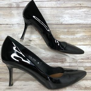 Donald J Pliner Treva 7M Black Pointed Toe Pumps